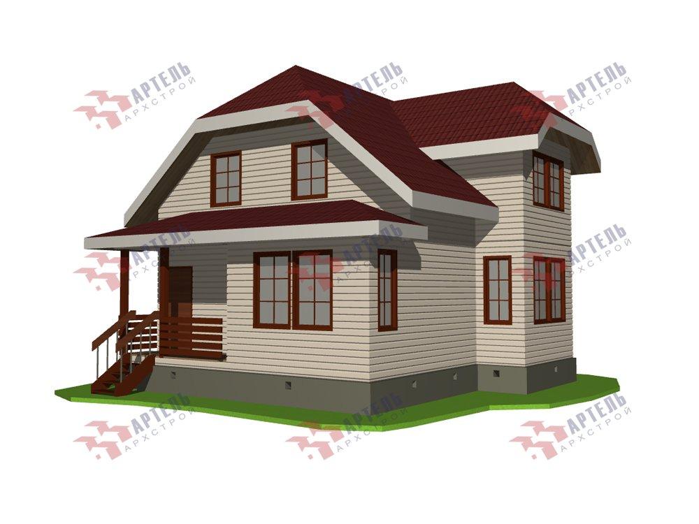 двухэтажный дом из профилированного бруса площадью от 100 до 150 кв. м. с  мансардой, эркером, проект Вариант 7.3 К фотография 5875