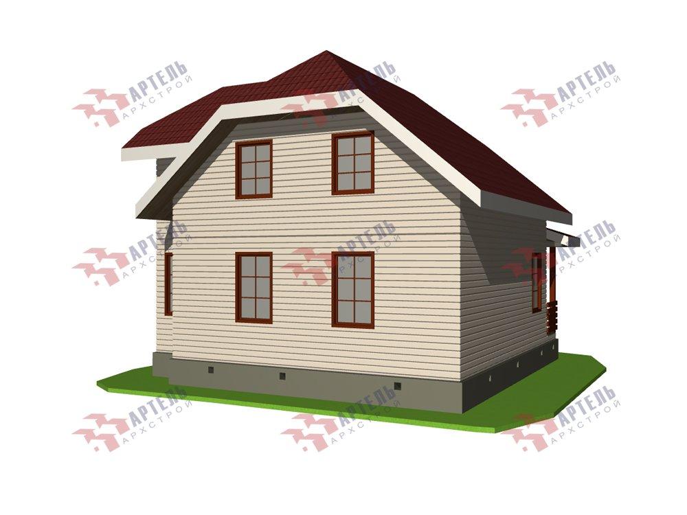 двухэтажный дом из профилированного бруса площадью от 100 до 150 кв. м. с  мансардой, эркером, проект Вариант 7.3 К фотография 5876