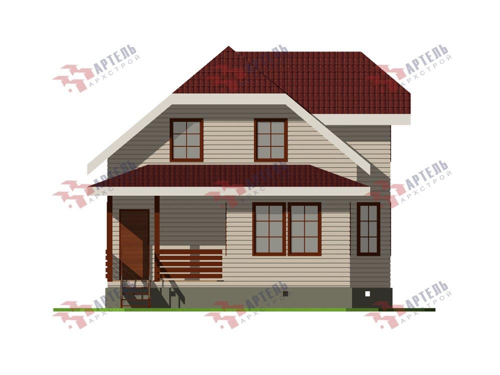 двухэтажный дом из профилированного бруса площадью от 100 до 150 кв. м. с  мансардой, эркером, проект Вариант 7.3 К фотография 5877