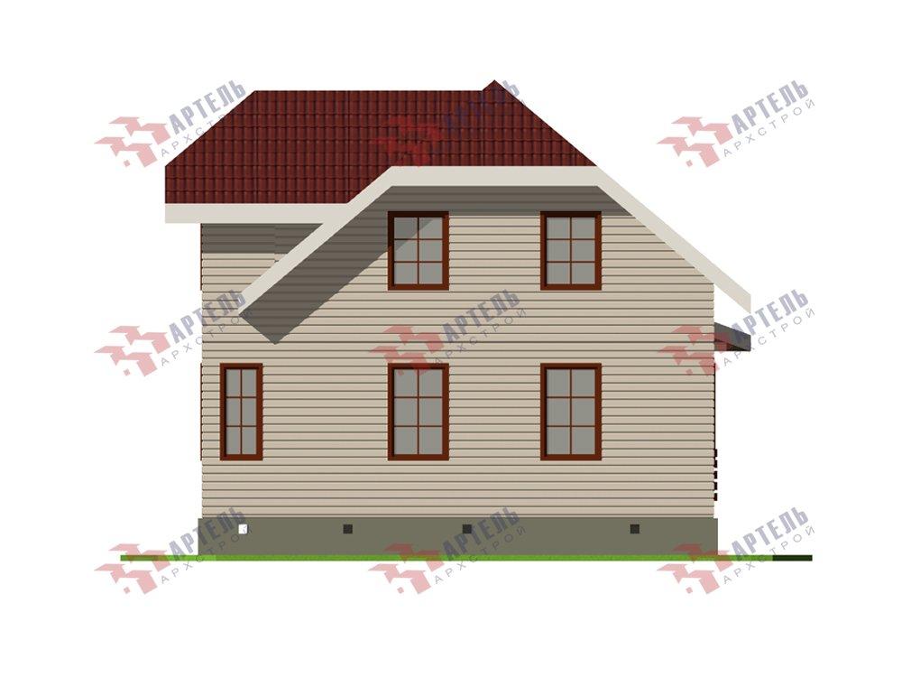 двухэтажный дом из профилированного бруса площадью от 100 до 150 кв. м. с  мансардой, эркером, проект Вариант 7.3 К фотография 5880