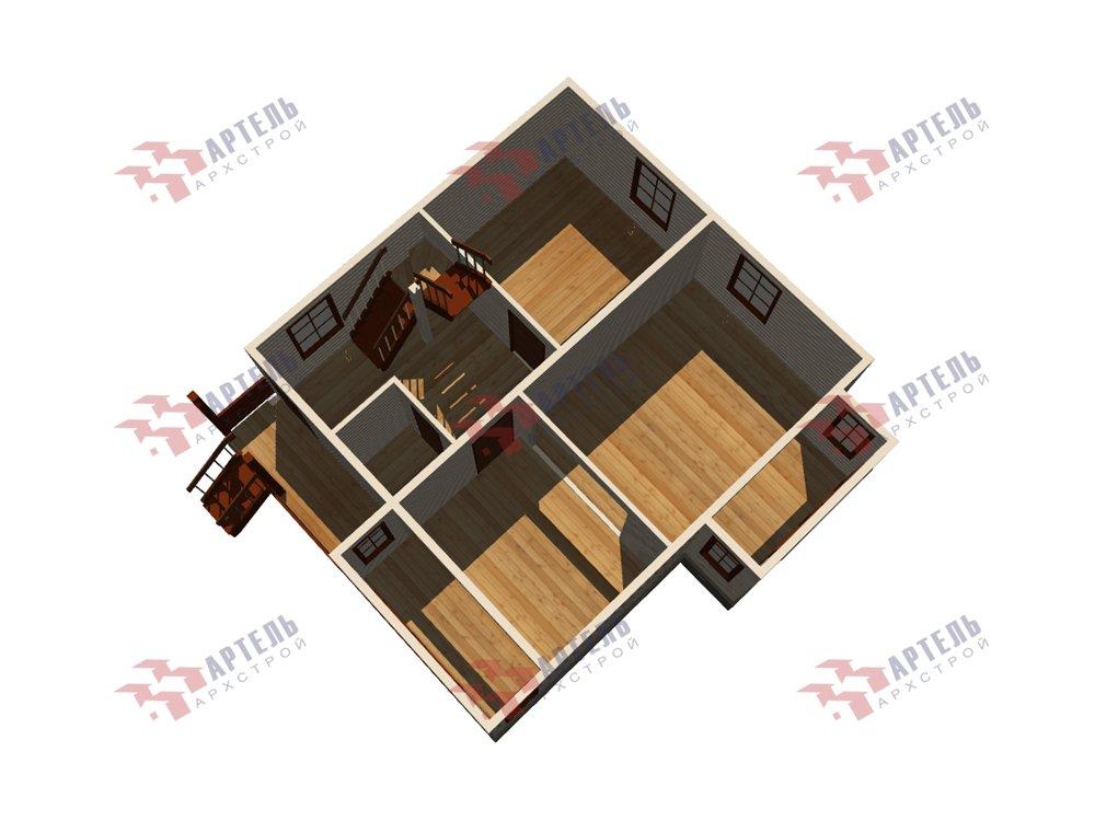 двухэтажный дом из профилированного бруса площадью от 100 до 150 кв. м. с  мансардой, эркером, проект Вариант 7.3 К фотография 5881