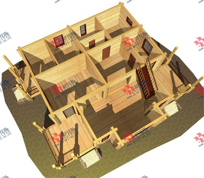 двухэтажный дом из профилированного бруса площадью свыше 200 кв. м. с  мансардой, проект Вариант 10.7 К фотография 118