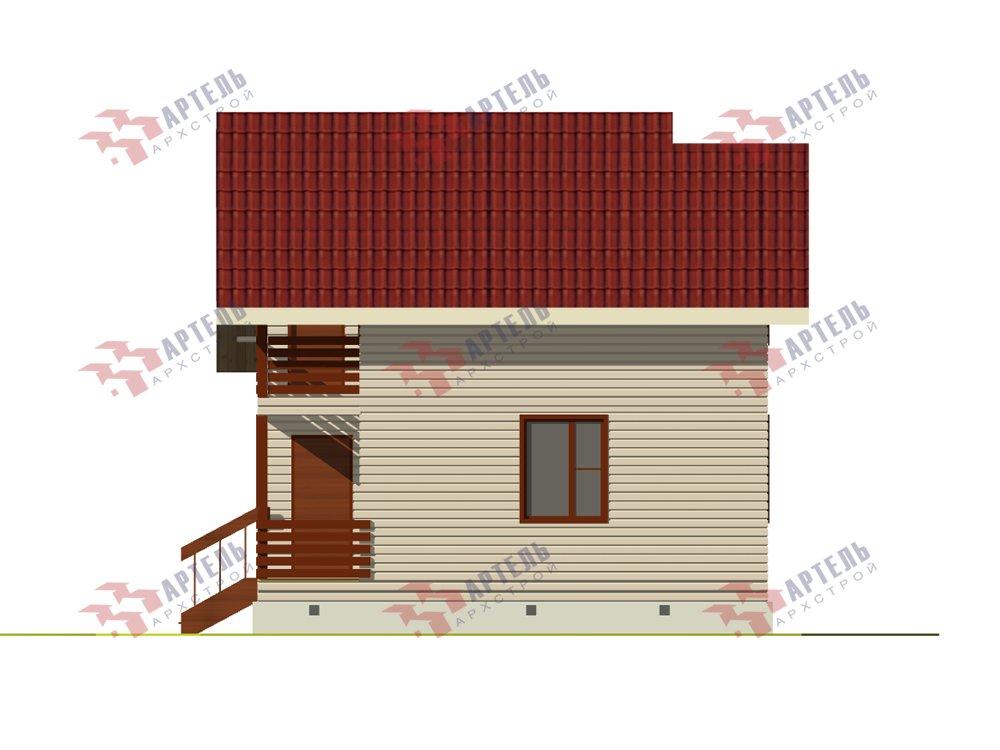 двухэтажный дом из профилированного бруса площадью до 100 кв. м. с  балконом, мансардой, проект Вариант 7.5 Д фотография 5759