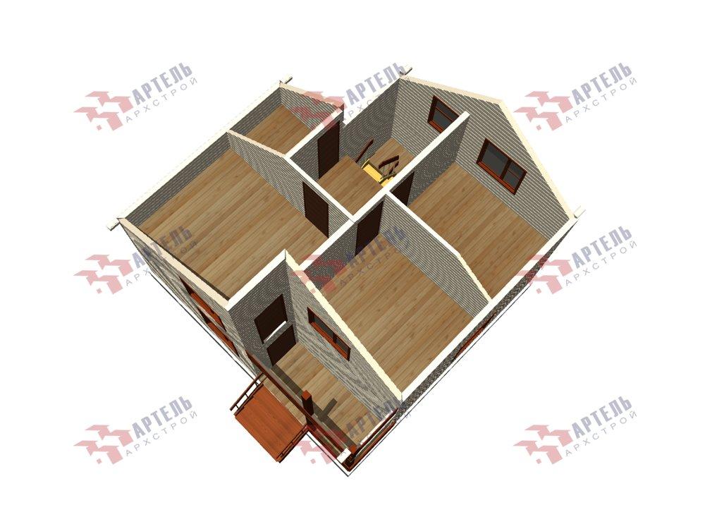 двухэтажный дом из профилированного бруса площадью до 100 кв. м. с  балконом, мансардой, проект Вариант 7.5 Д фотография 5764