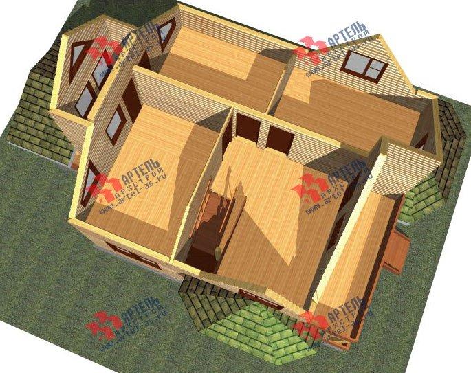 двухэтажный дом из бруса площадью от 150 до 200 кв. м. с  балконом, мансардой, террасой, эркером, проект Вариант 8 К-3 фотография 2463