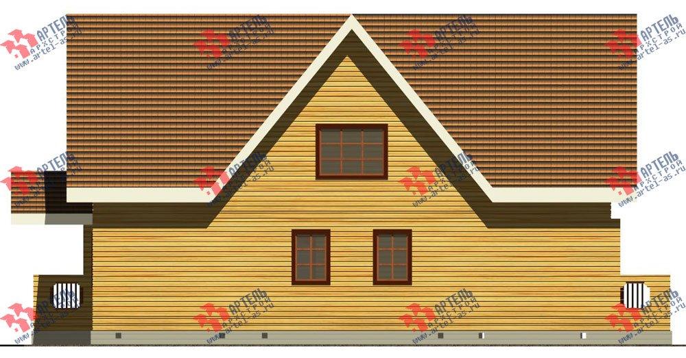 двухэтажный дом из бруса площадью свыше 200 кв. м. с  балконом, террасой, проект Вариант 8 Г-1 фотография 2490