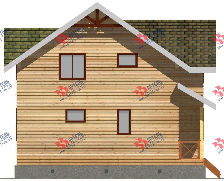 двухэтажный дом из бруса площадью от 100 до 150 кв. м. с  мансардой, проект Вариант 9 Ж-1 фотография 2570
