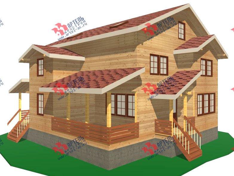 двухэтажный дом из бруса площадью свыше 200 кв. м. с  мансардой, террасой, проект Вариант 11.1 А фотография 2576