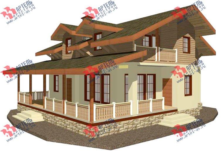 двухэтажный дом из камня площадью свыше 200 кв. м. с  балконом, террасой, проект Вариант 27 фотография 2934