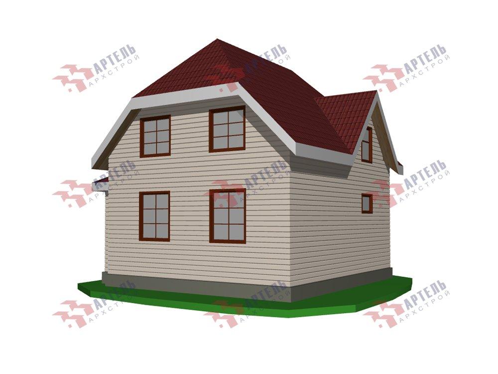двухэтажный дом из профилированного бруса площадью от 100 до 150 кв. м. с  мансардой, эркером, проект Вариант 7 И фотография 5858