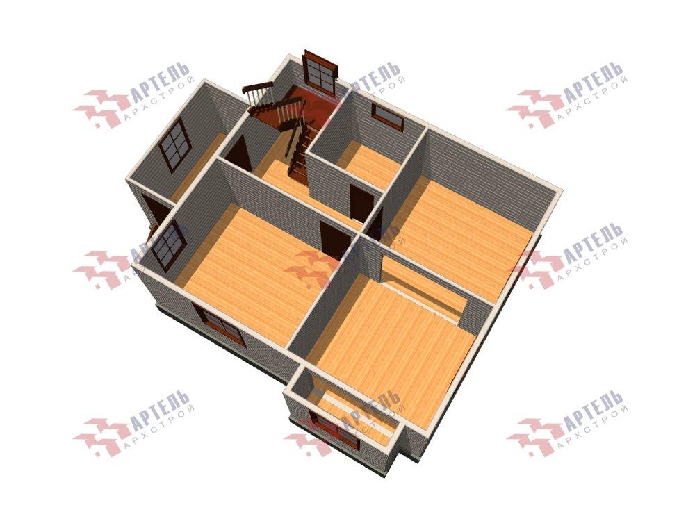 двухэтажный дом из профилированного бруса площадью от 100 до 150 кв. м. с  мансардой, эркером, проект Вариант 7 И фотография 5859