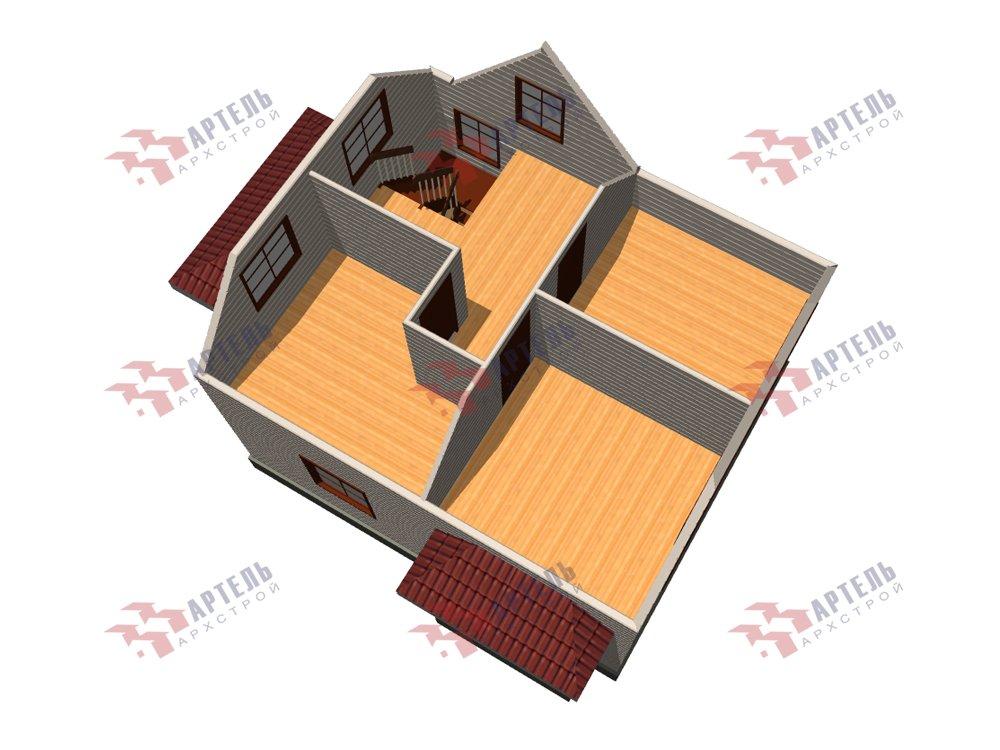 двухэтажный дом из профилированного бруса площадью от 100 до 150 кв. м. с  мансардой, эркером, проект Вариант 7 И фотография 5860