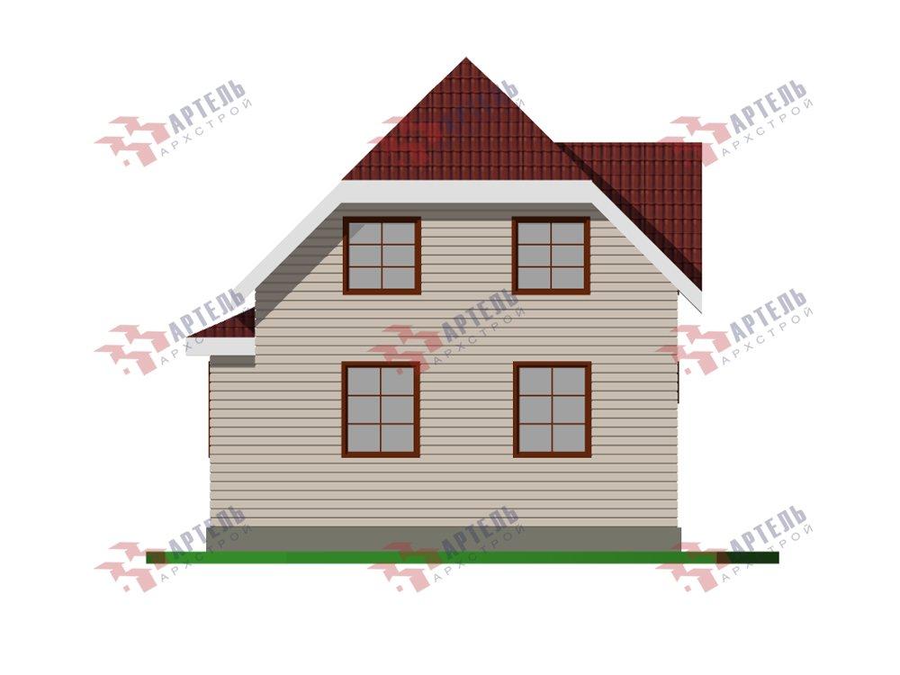 двухэтажный дом из профилированного бруса площадью от 100 до 150 кв. м. с  мансардой, эркером, проект Вариант 7 И фотография 5863