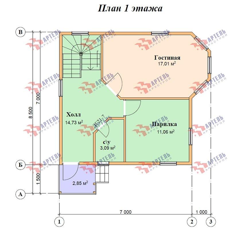 двухэтажный дом из профилированного бруса площадью до 100 кв. м. с  мансардой, эркером, проект Вариант 7 Е фотография 4865