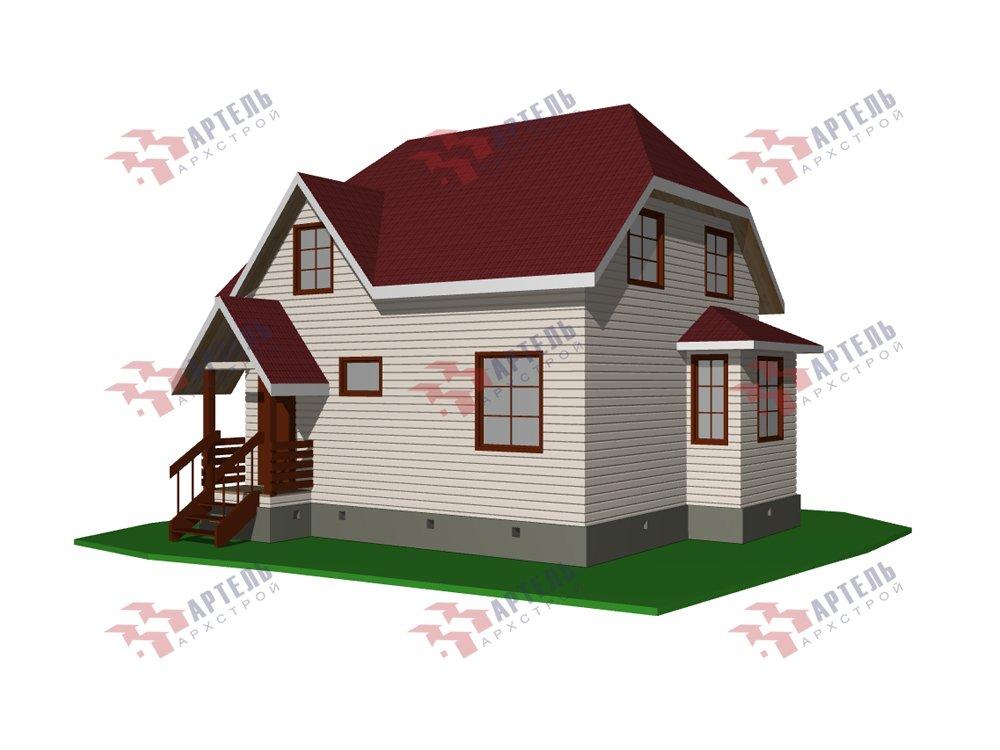 двухэтажный дом из профилированного бруса площадью до 100 кв. м. с  мансардой, эркером, проект Вариант 7 Г фотография 5805