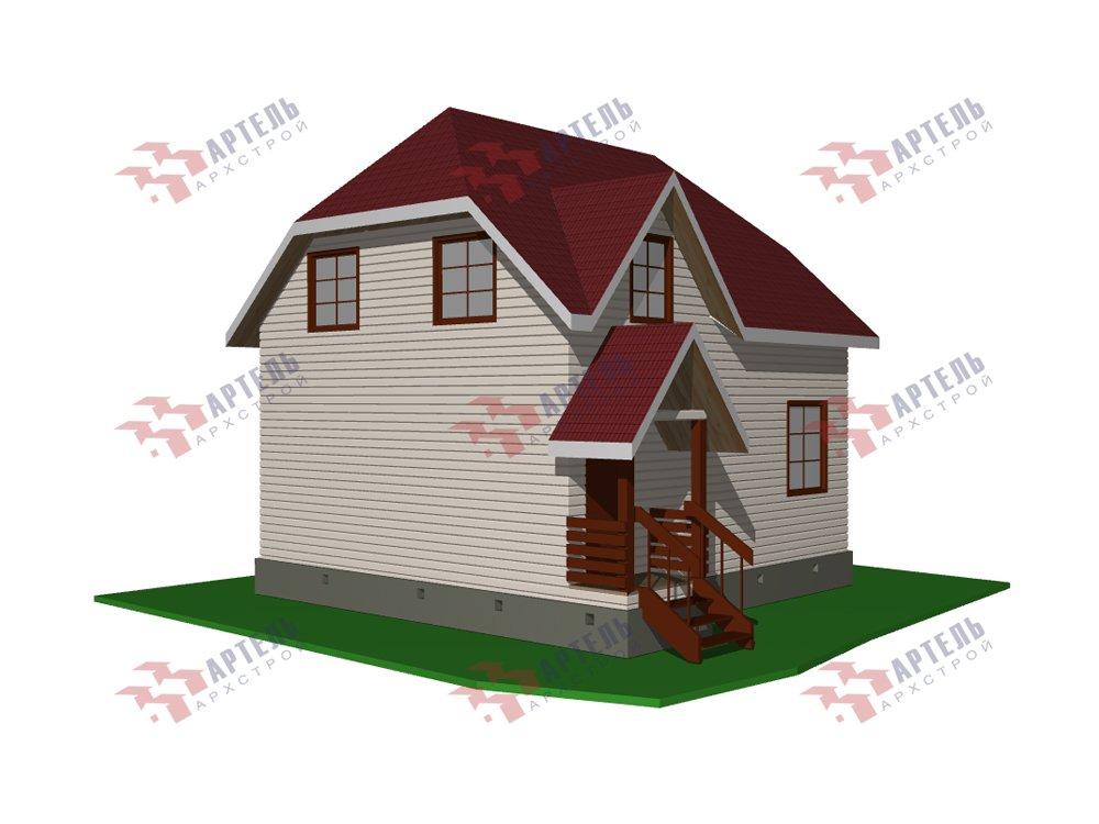 двухэтажный дом из профилированного бруса площадью до 100 кв. м. с  мансардой, эркером, проект Вариант 7 Г фотография 5806