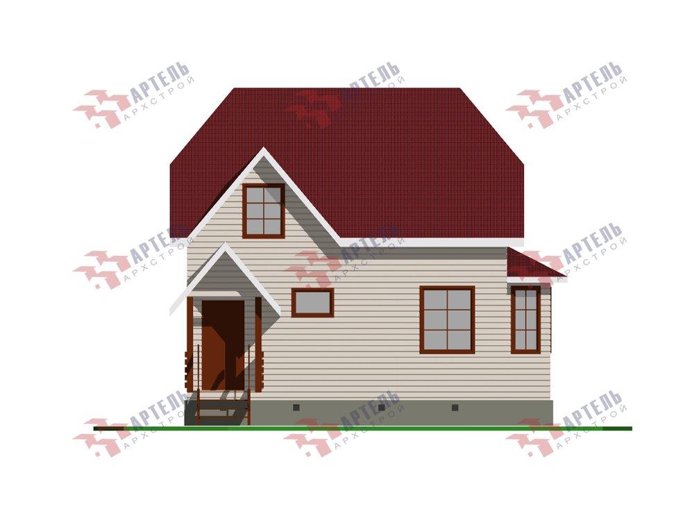 двухэтажный дом из профилированного бруса площадью до 100 кв. м. с  мансардой, эркером, проект Вариант 7 Г фотография 5807