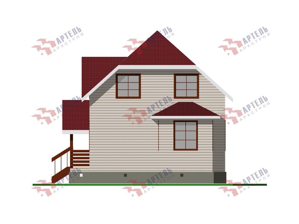 двухэтажный дом из профилированного бруса площадью до 100 кв. м. с  мансардой, эркером, проект Вариант 7 Г фотография 5808