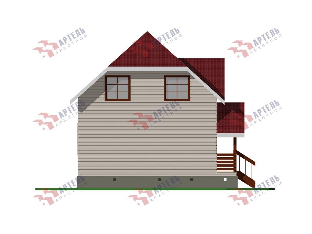 двухэтажный дом из профилированного бруса площадью до 100 кв. м. с  мансардой, эркером, проект Вариант 7 Г фотография 5810
