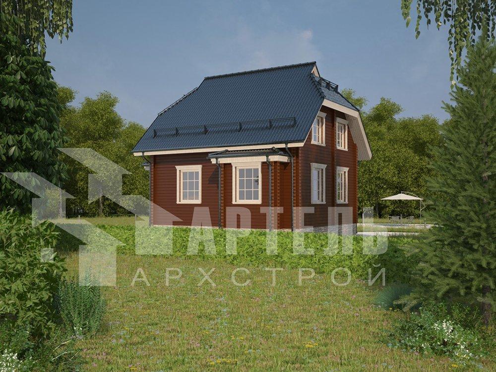 двухэтажный дом из профилированного бруса площадью от 100 до 150 кв. м. с  мансардой, эркером, проект Вариант 7 И фотография 3969