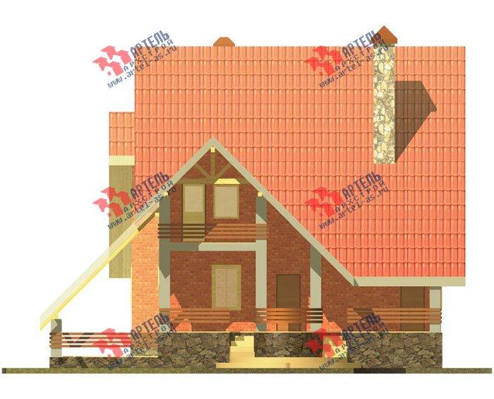 трёхэтажный дом из камня площадью свыше 200 кв. м. с  балконом, верандой, мансардой, проект Вариант 21 фотография 661