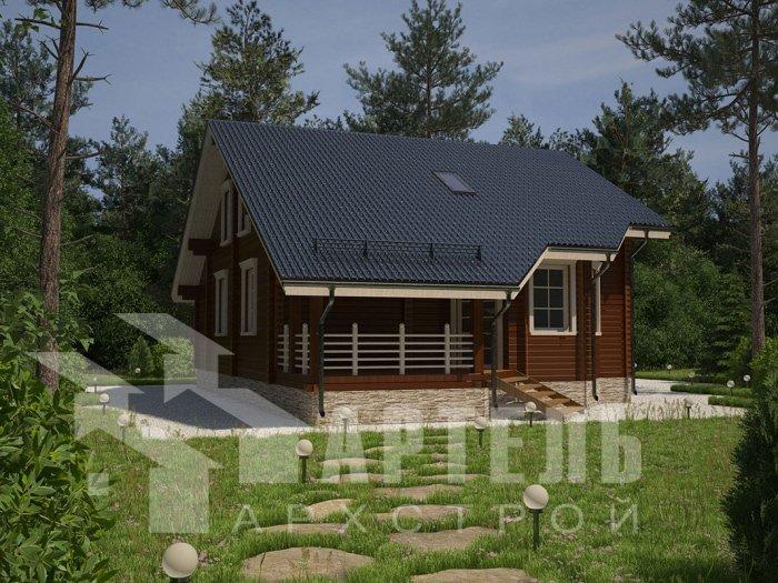 двухэтажный дом из профилированного бруса площадью от 150 до 200 кв. м. с  мансардой, террасой, проект Вариант 8.3 А фотография 4715