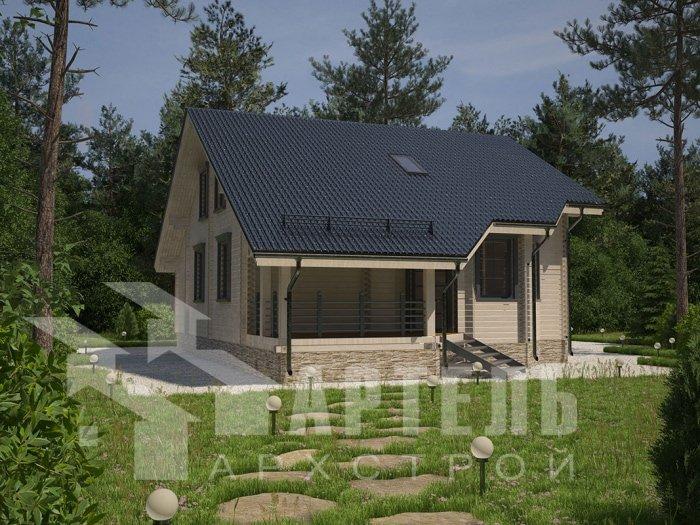 двухэтажный дом из профилированного бруса площадью от 150 до 200 кв. м. с  мансардой, террасой, проект Вариант 8.3 А фотография 4709