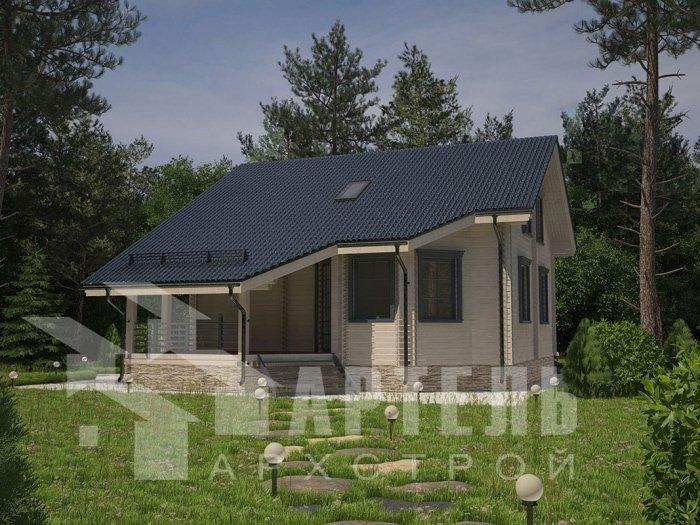 двухэтажный дом из профилированного бруса площадью от 150 до 200 кв. м. с  мансардой, террасой, проект Вариант 8.3 А фотография 4710
