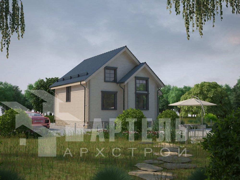 двухэтажный дом из профилированного бруса площадью от 100 до 150 кв. м. с  мансардой, эркером, проект Вариант 8.5 Б фотография 4068