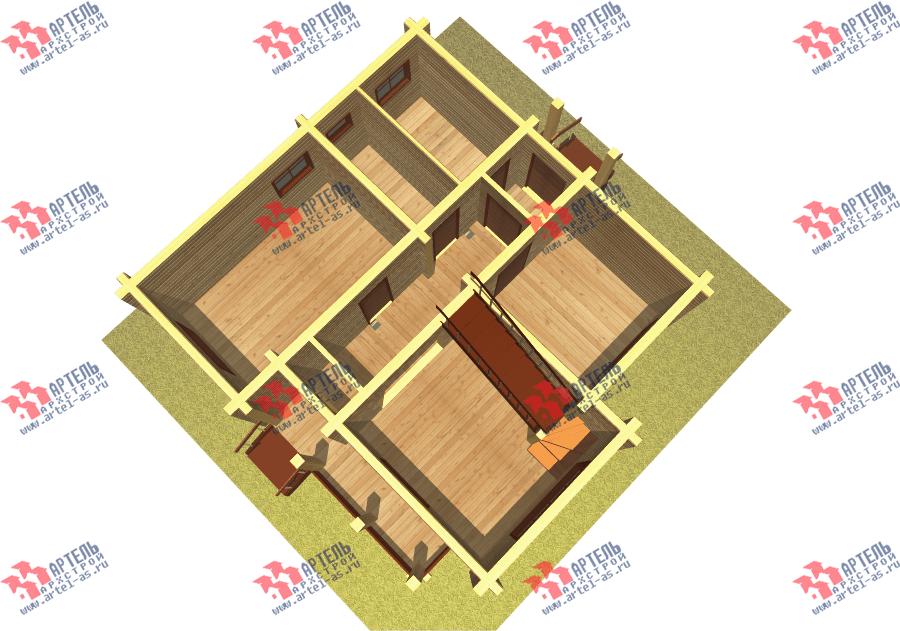 двухэтажный дом из бруса площадью от 100 до 150 кв. м. с  балконом, мансардой, проект Вариант 8 Ф фотография 3339