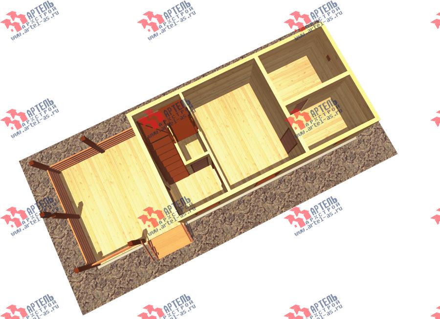 двухэтажный дом из профилированного бруса площадью до 100 кв. м., проект Вариант 7 фотография 3355