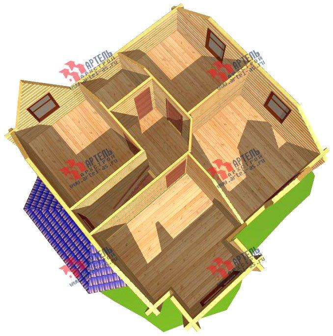 двухэтажный дом из профилированного бруса площадью от 100 до 150 кв. м. с  мансардой, эркером, проект Вариант 8 Т фотография 247