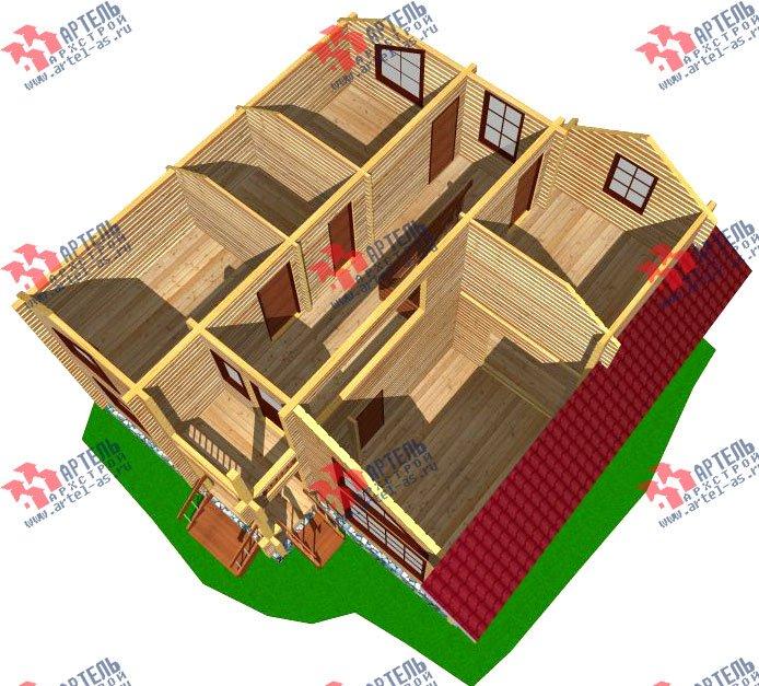 двухэтажный дом из профилированного бруса площадью от 100 до 150 кв. м. с  балконом, мансардой, проект Вариант 9.3 К фотография 258