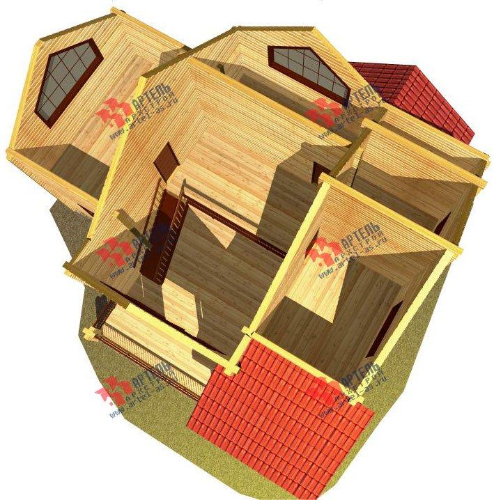двухэтажный дом из профилированного бруса площадью от 150 до 200 кв. м. с  мансардой, террасой, проект Вариант 9.5 Т фотография 94