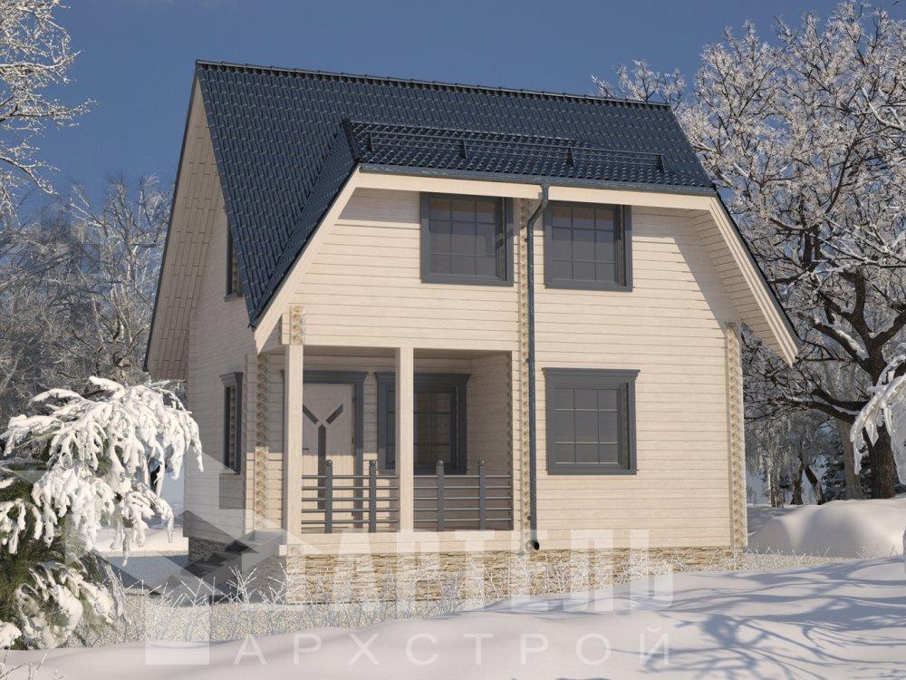 двухэтажный дом из профилированного бруса площадью до 100 кв. м. с  мансардой, проект Вариант 6 Д фотография 6566