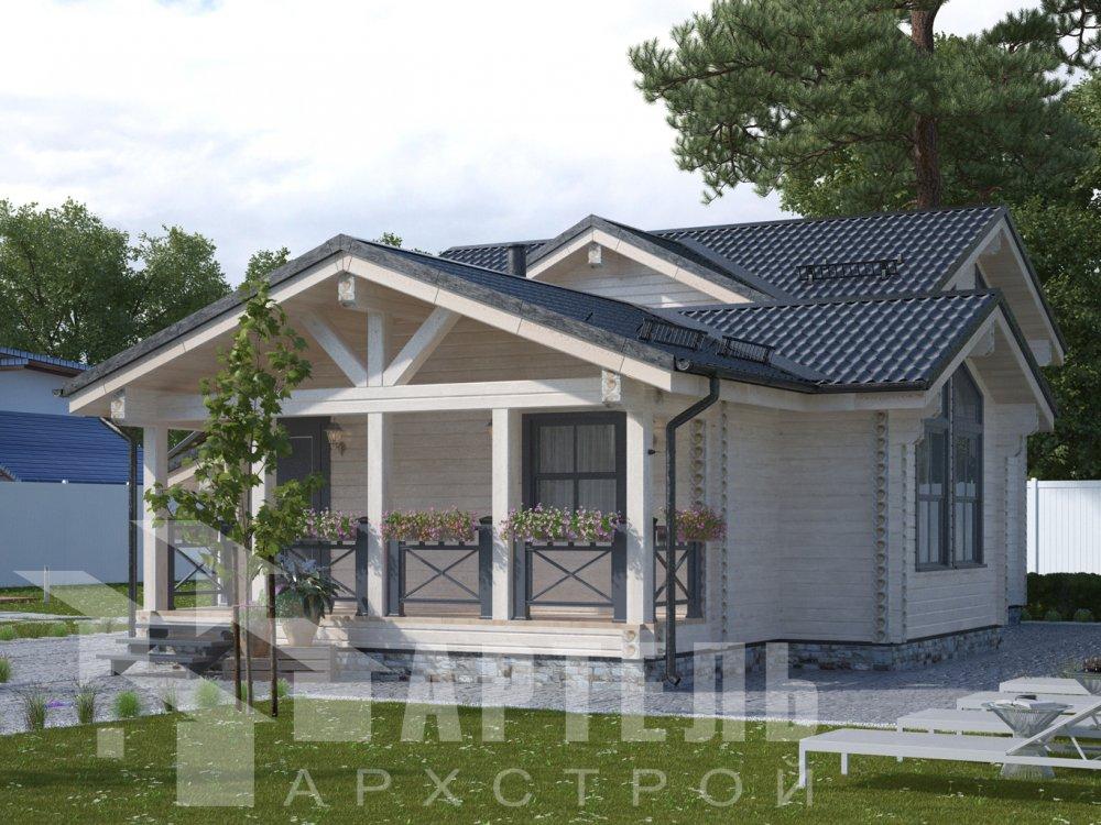 двухэтажный дом из профилированного бруса площадью от 100 до 150 кв. м., проект Вариант 13.3 А фотография 6583