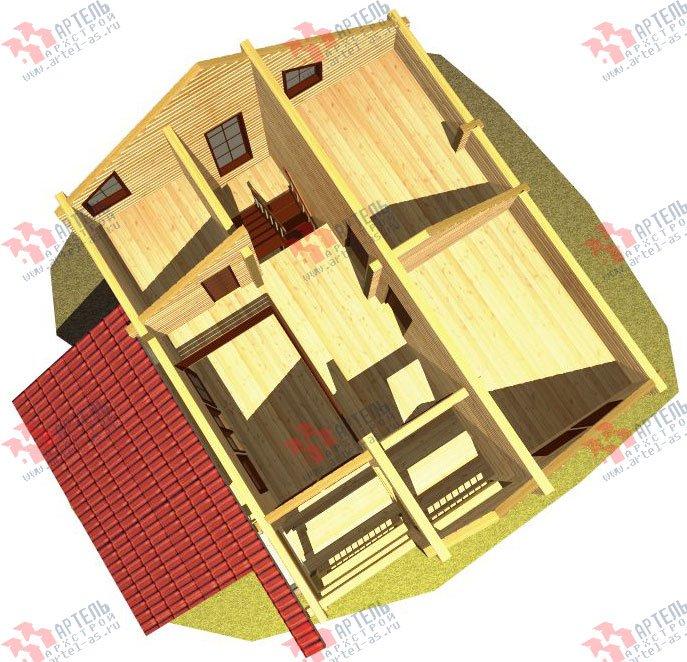 двухэтажный дом из профилированного бруса площадью от 150 до 200 кв. м. с  балконом, мансардой, террасой, проект Вариант 8.6 К фотография 334