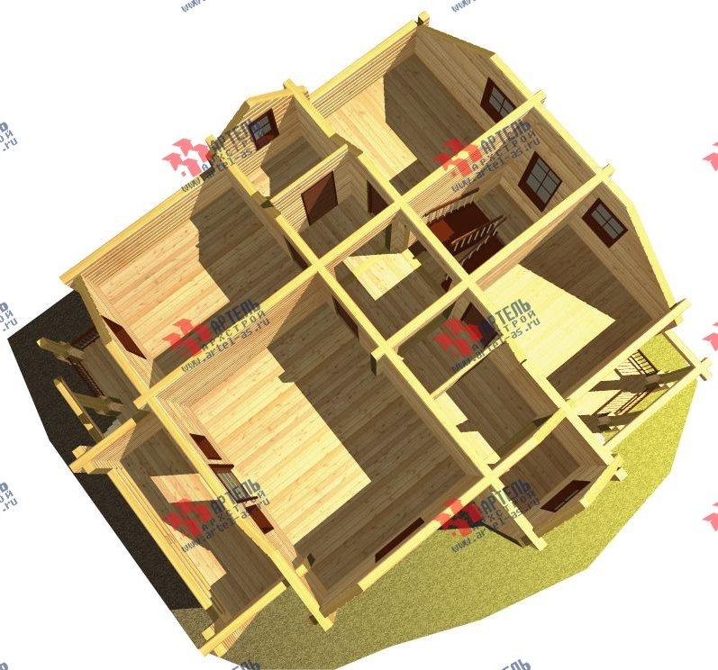 двухэтажный дом из бруса площадью свыше 200 кв. м. с  балконом, мансардой, проект Вариант 9.5 К-2 фотография 105
