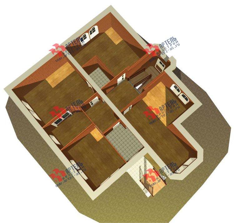 трёхэтажный дом из камня площадью свыше 200 кв. м. с  эркером, проект Вариант 20 фотография 650