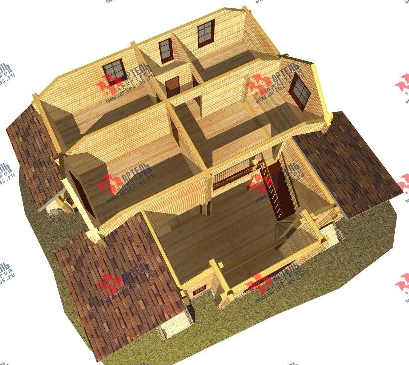 двухэтажный дом из профилированного бруса площадью свыше 200 кв. м. с  мансардой, проект Вариант 10.7 К фотография 119