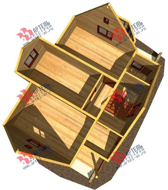 двухэтажный дом из бруса площадью от 100 до 150 кв. м. с  верандой, мансардой, эркером, проект Вариант 8.5 Г фотография 998