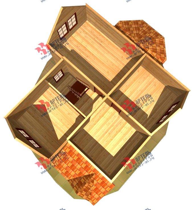 двухэтажный дом из бруса площадью от 150 до 200 кв. м. с  верандой, проект Вариант 8.6 А фотография 1163
