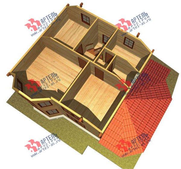 двухэтажный дом из бруса площадью от 150 до 200 кв. м. с  мансардой, эркером, проект Вариант 8.4 К фотография 1233