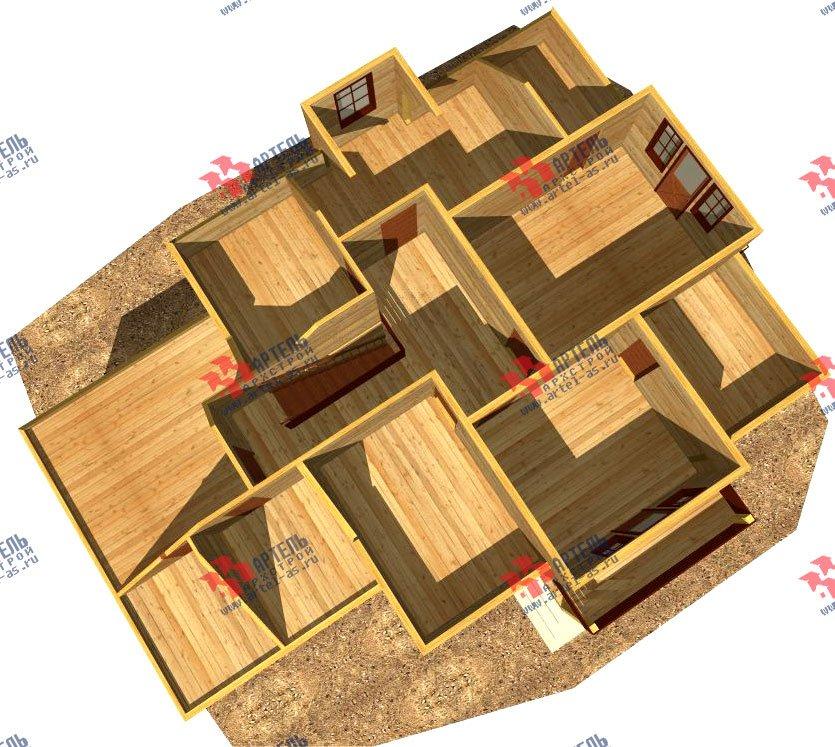 двухэтажный дом из бруса площадью свыше 200 кв. м. с  балконом, гаражом, мансардой, проект Вариант 12.1 А фотография 1416