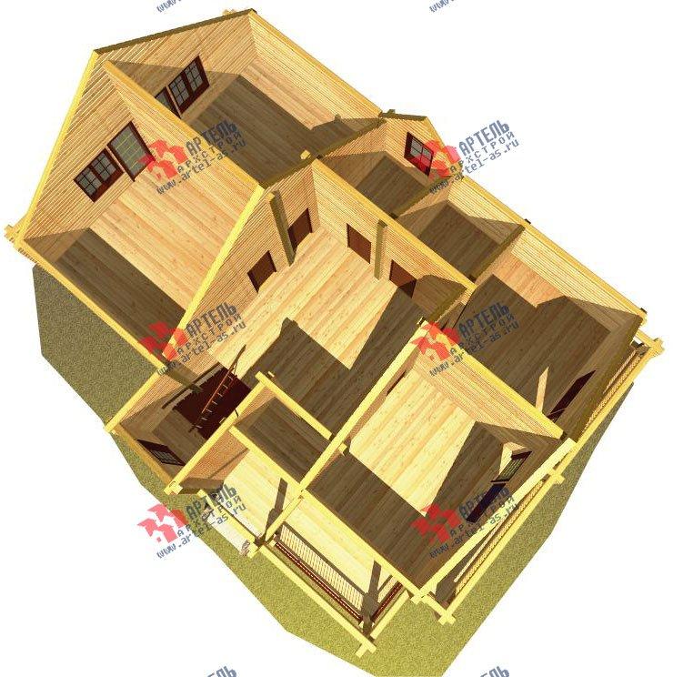двухэтажный дом из бруса площадью свыше 200 кв. м. с  балконом, мансардой, проект Вариант 11.4 А фотография 129