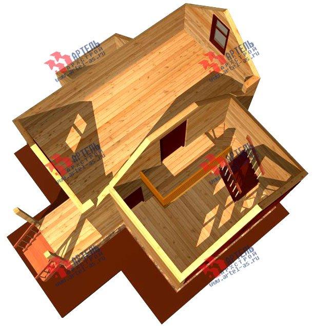 двухэтажный дом из профилированного бруса площадью до 100 кв. м., проект Вариант 3 фотография 1547