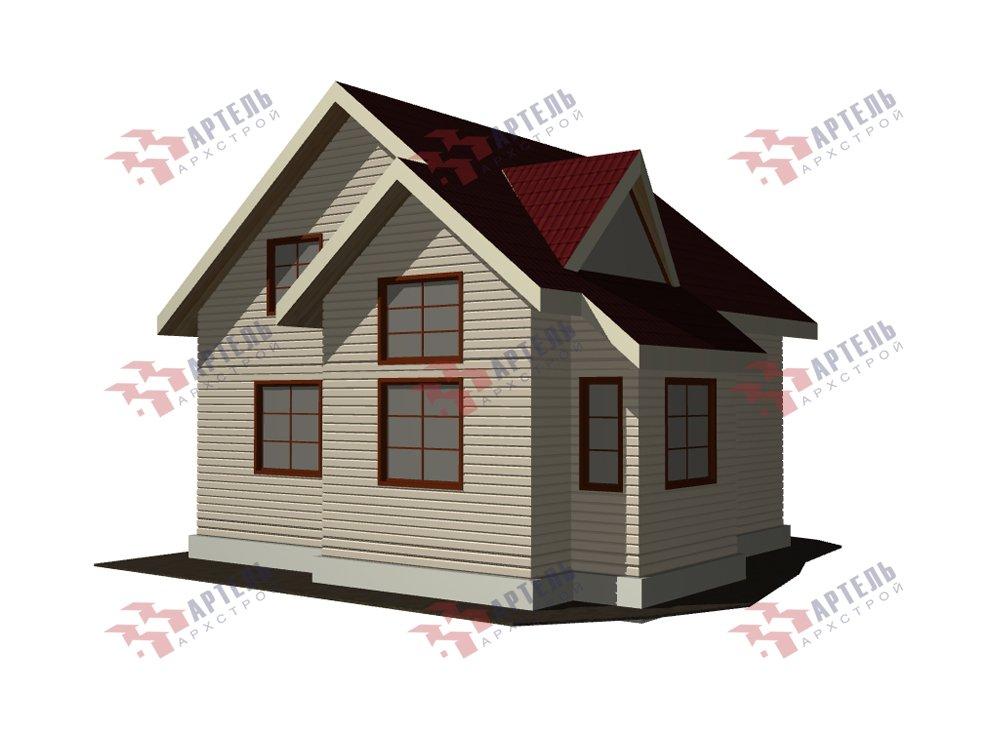 двухэтажный дом из профилированного бруса площадью от 100 до 150 кв. м. с  мансардой, эркером, проект Вариант 8.5 Б фотография 5905