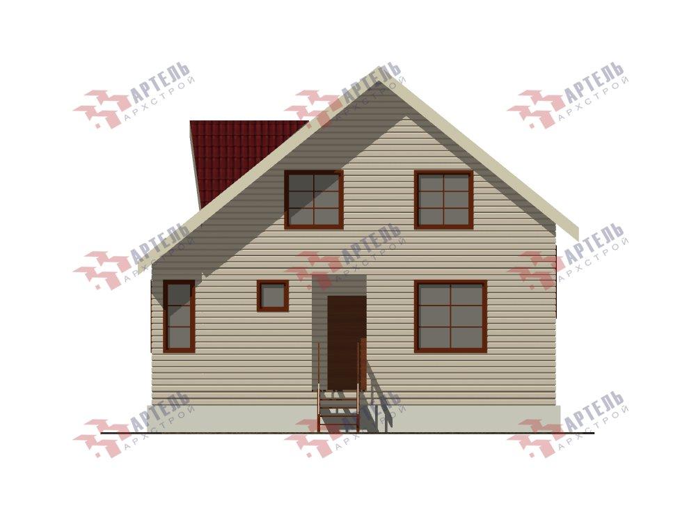 двухэтажный дом из профилированного бруса площадью от 100 до 150 кв. м. с  мансардой, эркером, проект Вариант 8.5 Б фотография 5906