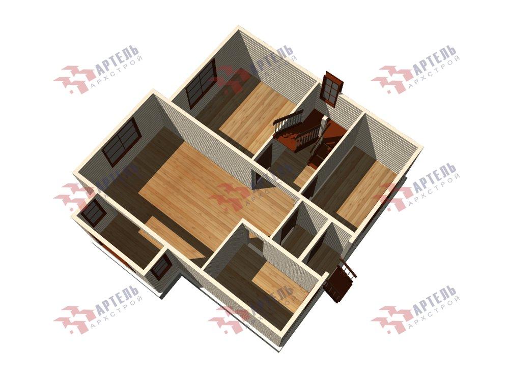 двухэтажный дом из профилированного бруса площадью от 100 до 150 кв. м. с  мансардой, эркером, проект Вариант 8.5 Б фотография 5903