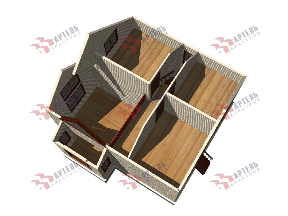 двухэтажный дом из профилированного бруса площадью от 100 до 150 кв. м. с  мансардой, эркером, проект Вариант 8.5 Б фотография 5912